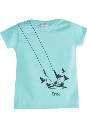 Soobe Pop Girls Özgür Kuş Kısa Kol T-Shirt Çini 9 Yaş