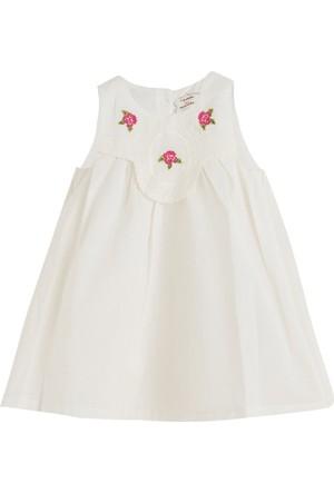 Soobe Little Parisienne Kolsuz Elbise Ekru 15 - 18 Ay