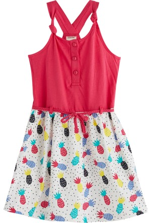 Soobe Pineapple Party Kolsuz Elbise 5 Yaş