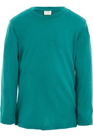 Soobe Pop Boys Bisiklet Yaka Uzun Kol T-Shirt Göl Yeşil 7 Yaş