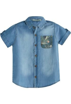 Soobe Aloha Guys Erkek Çocuk Kısa Kol Gömlek İndigo