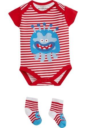 Soobe Canavar Body Çorap Set Kırmızı 0 - 3 Ay