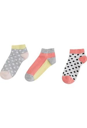 Soobe Üçlü Puantiyeli Patik Çorap Koyu Pembe
