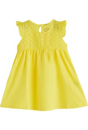 Soobe Pop Girls Kısa Kol Elbise Koyu Sarı