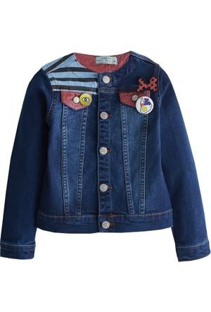 Soobe Pop Art Girls Baskılı Denim Ceket Mavi 3 Yaş