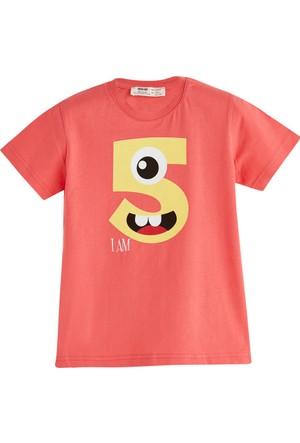 Soobe Pop Boys 5 Yaş Temalı T-Shirt Mercan 5 Yaş