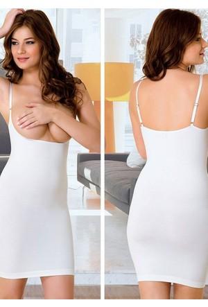 Emay 5060 Korse Göğsü Açık Elbise