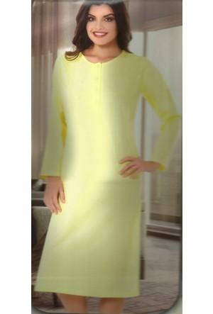 Morelove 6003 Bayan Pijama Tk. Sarı