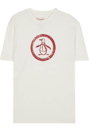 An Original Penguin Distressed Circle Logo T-Shirt