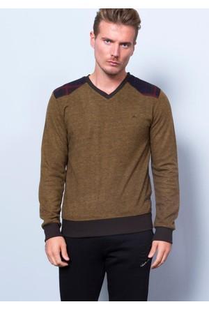 Cazador Hardal V Yaka Uzun Kol Selanik Sweatshirt