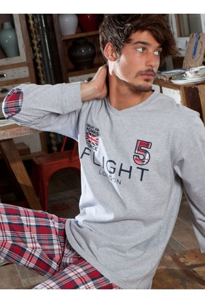 Ayyıldız 58522 Ekose Desenli Erkek Pijama Takımı