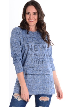 Tepa Mavi New Büyük Beden Bluz