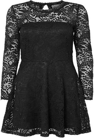 Vero Moda Kadın Celeb Siyah Dantelli Elbise 10160867