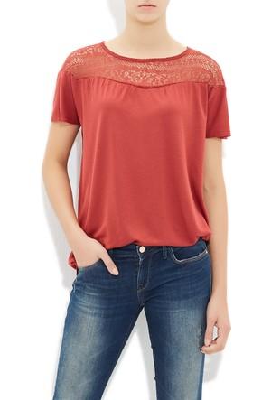 Mavi Kadın Koyu Kiremit Dantel Detaylı T-Shirt