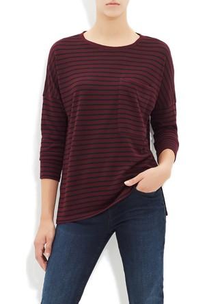 Mavi Kadın Bordo Çizgili T-Shirt