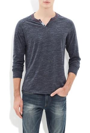 Mavi Erkek Düğmeli Yaka T-Shirt