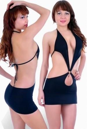 Terry Pau Tp060773 Fantazi Mini Elbise