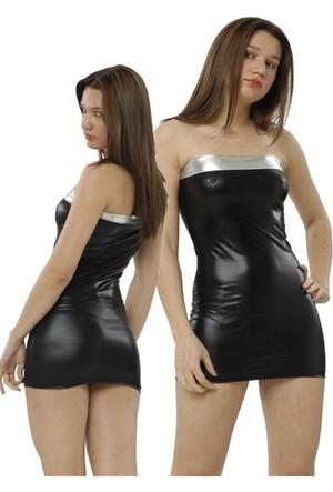 Terry Pau Tp091208 Kontras Mini Strapless Elbise