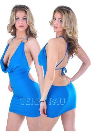 Terry Pau Tp112110 Arkası Çapraz Dökümlü Elbise