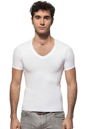 Özkan 273 Kısa Kol V Yaka Likralı T-Shirt