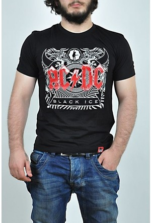 TshirtHane AC DC logo Baskılı Erkek Tshirt