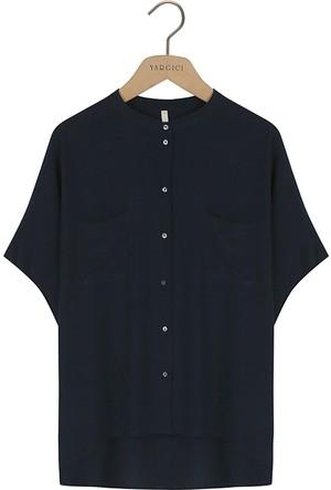 Yargıcı Kısa Kollu Bol Kesim Gömlek 6Kkgm6113X