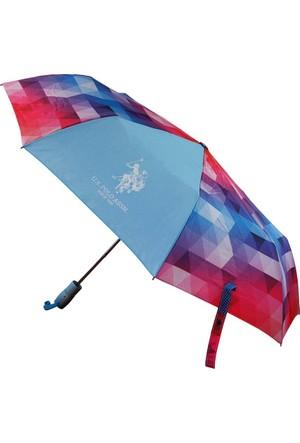 U.S Polo Assn. Renkli Şemsiye Plşem6606
