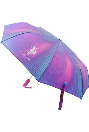U.S Polo Assn. Mor Desenli Şemsiye Plşem6604