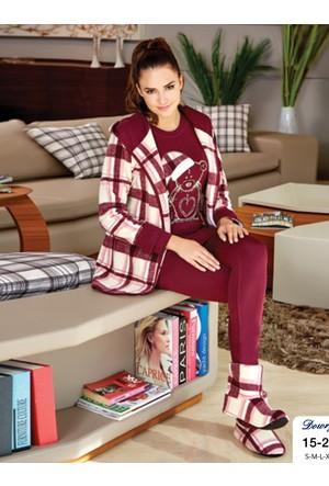 Dowry Bayan 3 lü Pijama Sabahlık Takımı 15-23