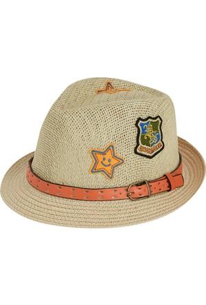 Soobe Kemerli Hasır Şapka 1 - 5 Yaş