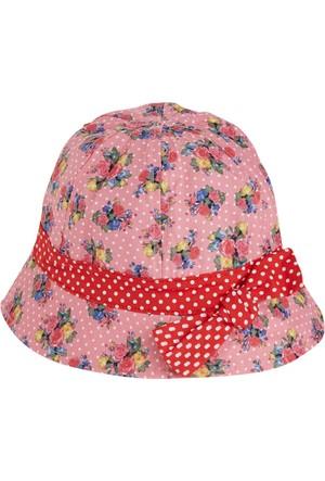 Soobe Çiçekli Fiyonklu Fotr Şapka 1 - 4 Yaş