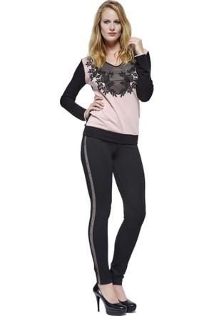 Dodona Özel Tasarım Siyah Pantolon Siyah