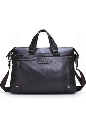 Dıoulaorentou Moda 2016 Men Leather Vintage Briefcase Kahve