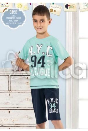 Özkan 30495 Erkek Çocuk Şortlu Takım - Yeşil