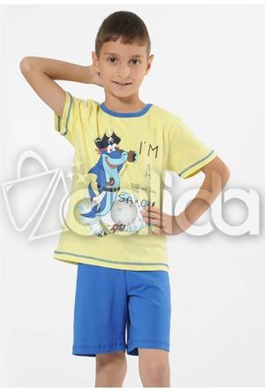 Özkan 30467 Erkek Çocuk Şortlu Takım - Sarı