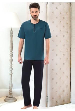 Erkek Pijama Takımı - 8714 - Yeşil - Erdem