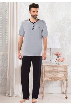 Erkek Pijama Takımı - 8714 - Gri - Erdem