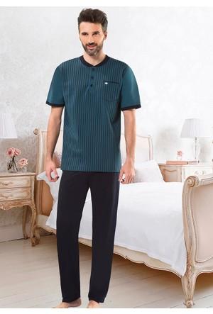 Erkek Pijama Takımı - 8709 - Yeşil - Erdem