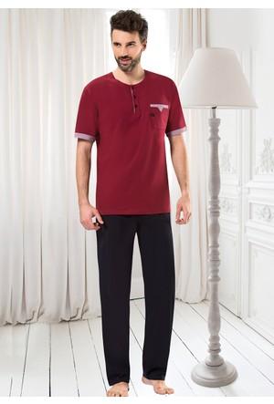 Erdem Erkek Pijama Takımı - 8715 - Bordo