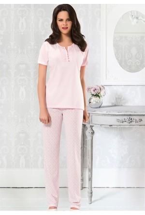 Bayan Pijama Takım - 8417 - Pembe - Erdem