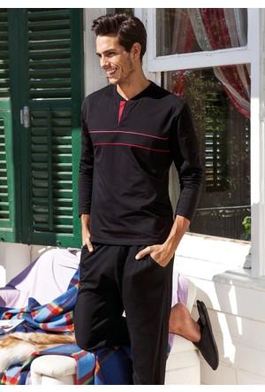 Yeni İnci EPJ-454 Erkek Pijama Takım - Siyah