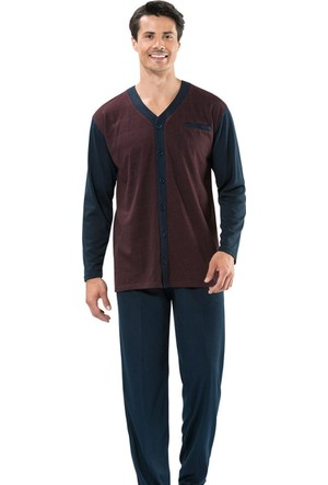 Erdem 8707 Erkek Pijama Takım - Bordo