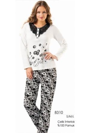 Erdem 8310 Güpürlü Uzun Kol Pijama Takımı