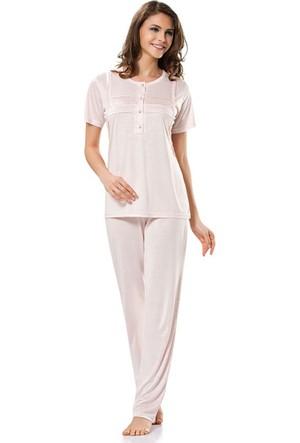 Erdem 8370 Kısa Kol Bayan Pijama Takımı Pembe