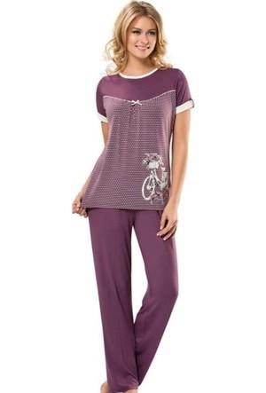 Erdem 8374 Kısa Kol Bayan Pijama Takım
