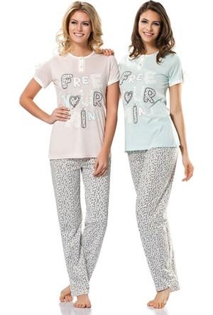Erdem 8362 Kısa Kol Bayan Pijama Takımı