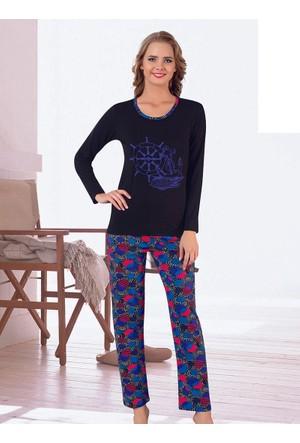 Pijama - Siyah Mavi - Akbeniz