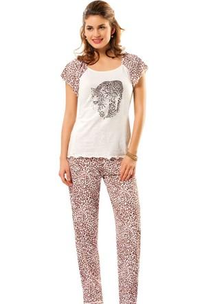 Erdem 8255 Leopar Pijama Takımı