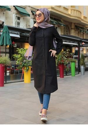 Coton Tunik - Siyah - Miss Zera