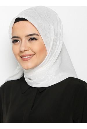 Devore Yakma Eşarp - Krem - Mısırlı